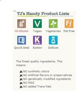 TJ's Handy Product Lists
